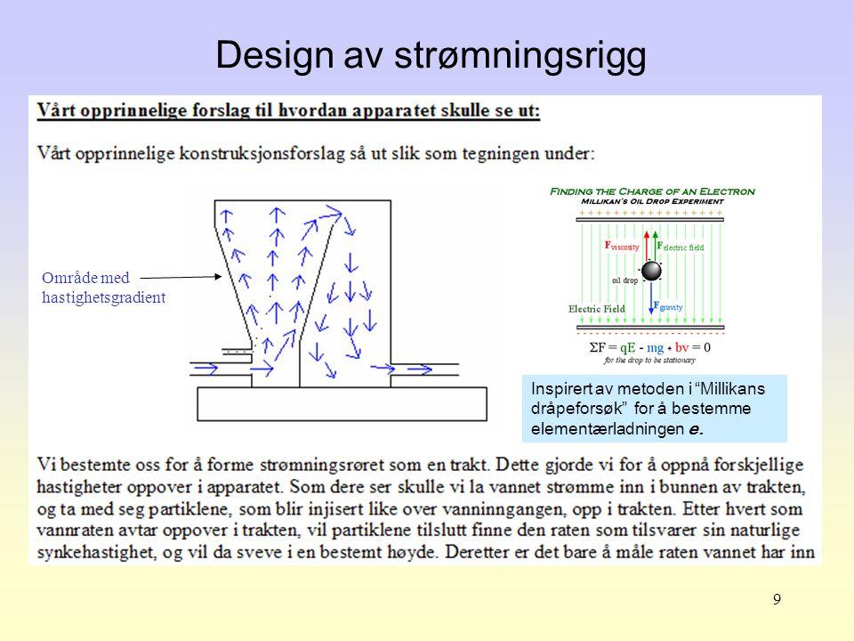 Design av strømningsrigg