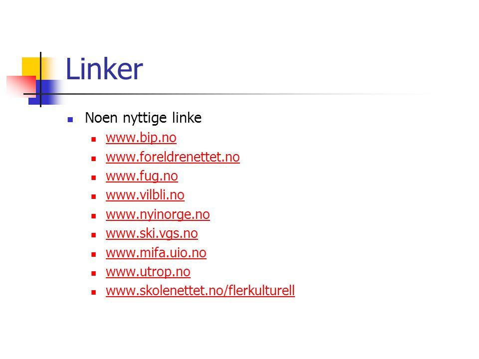 Linker Noen nyttige linke www.bip.no www.foreldrenettet.no www.fug.no