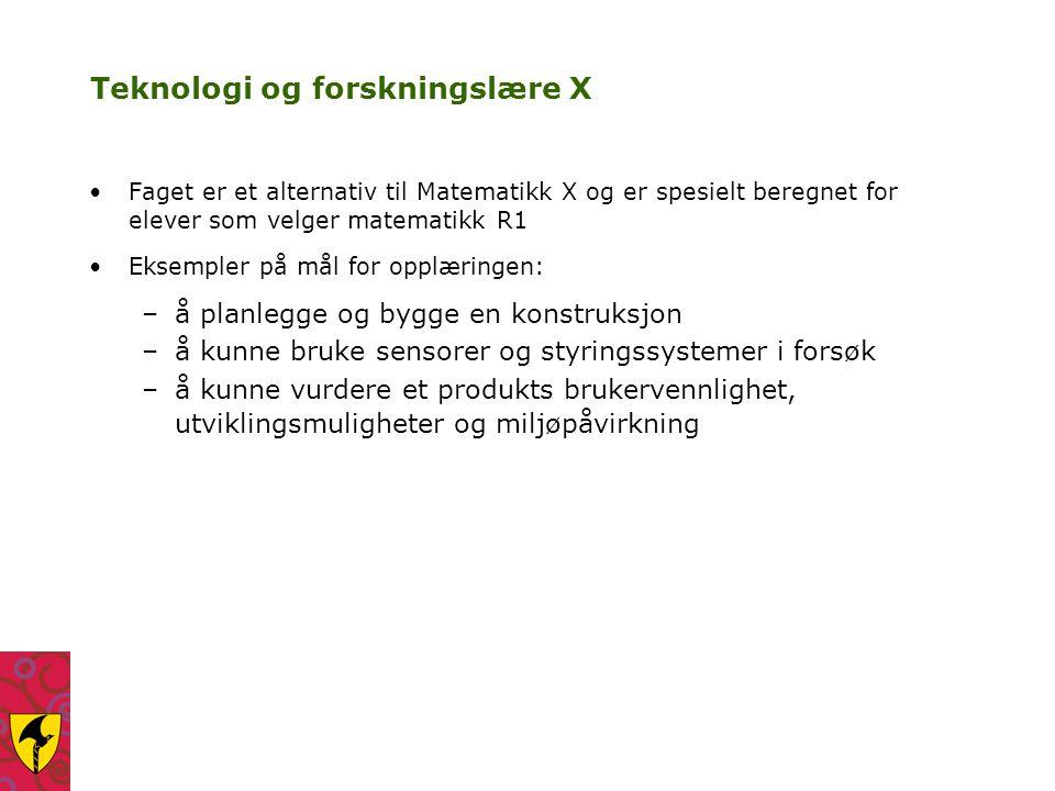 Teknologi og forskningslære X