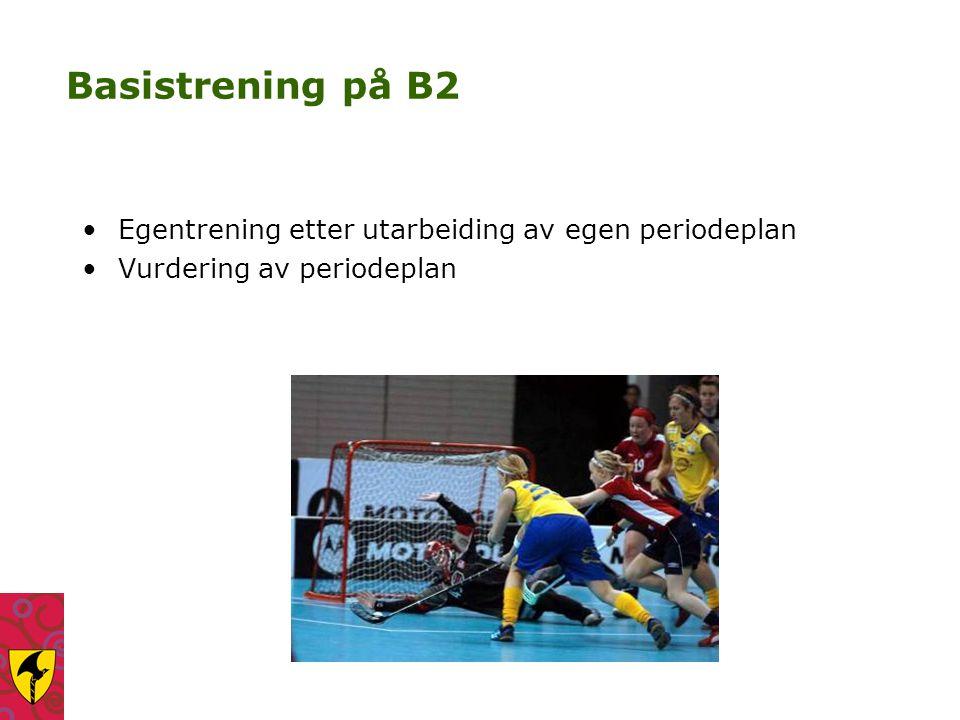 Basistrening på B2 Egentrening etter utarbeiding av egen periodeplan