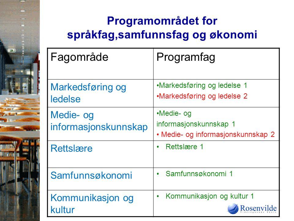 Programområdet for språkfag,samfunnsfag og økonomi