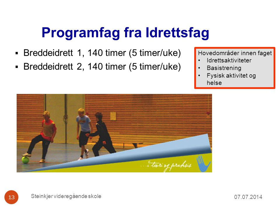 Programfag fra Idrettsfag