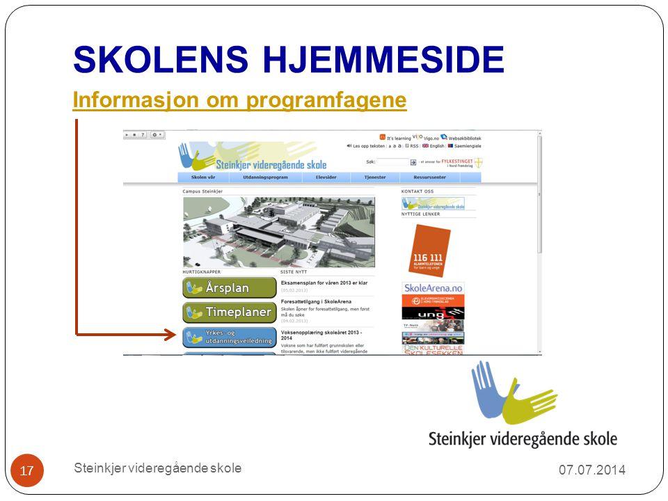 SKOLENS HJEMMESIDE Informasjon om programfagene