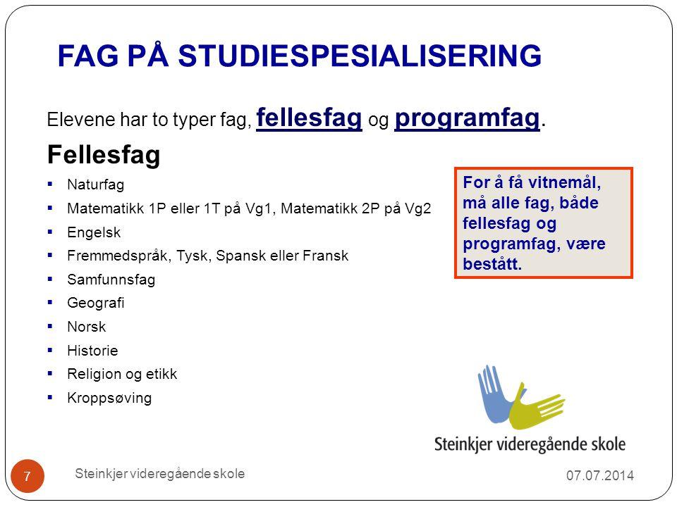 FAG PÅ STUDIESPESIALISERING