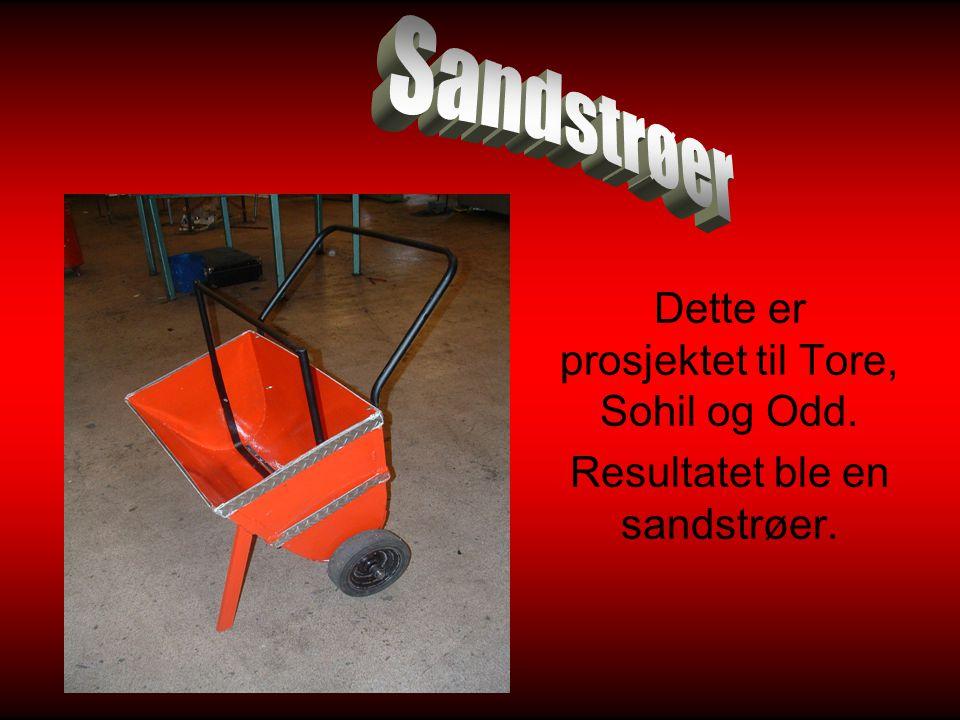 Sandstrøer Dette er prosjektet til Tore, Sohil og Odd.