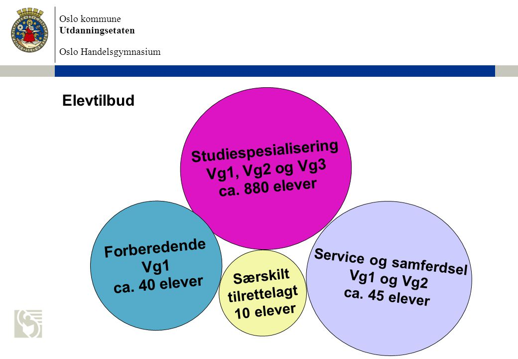 Studiespesialisering Vg1, Vg2 og Vg3 ca. 880 elever