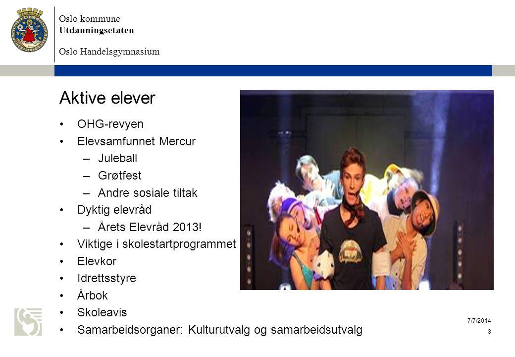 Aktive elever OHG-revyen Elevsamfunnet Mercur Juleball Grøtfest