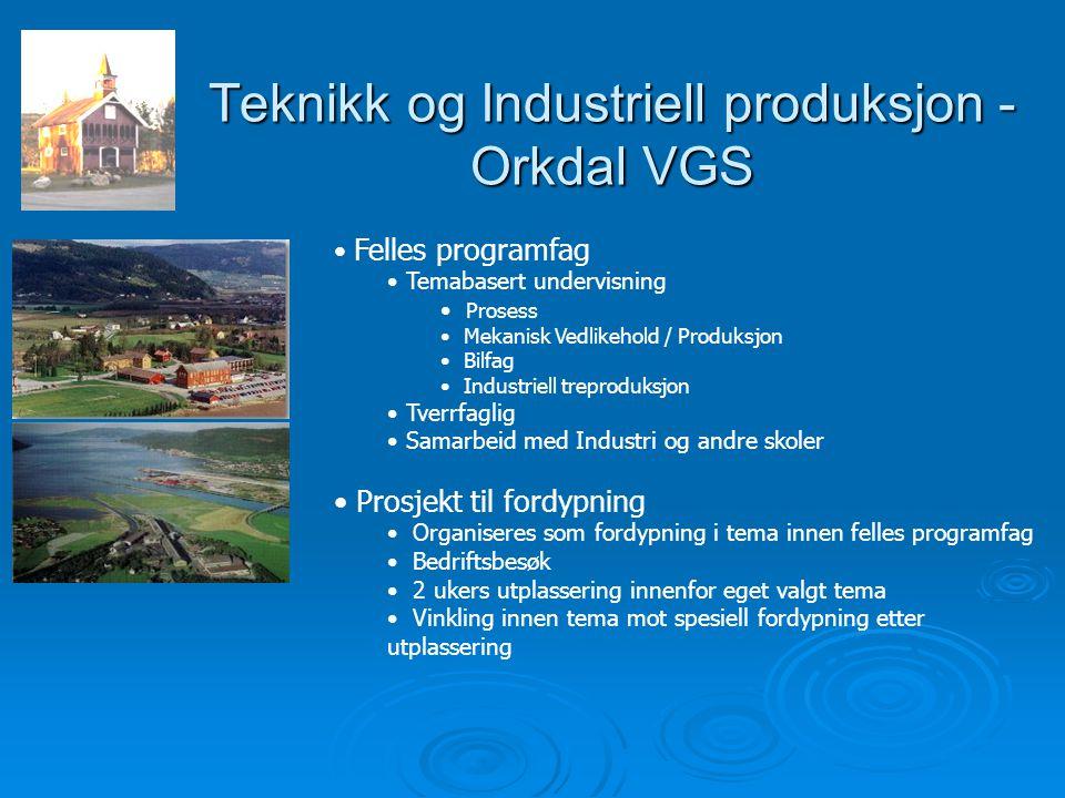 Teknikk og Industriell produksjon - Orkdal VGS