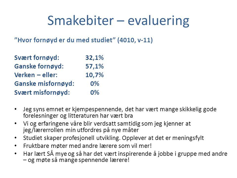 Smakebiter – evaluering