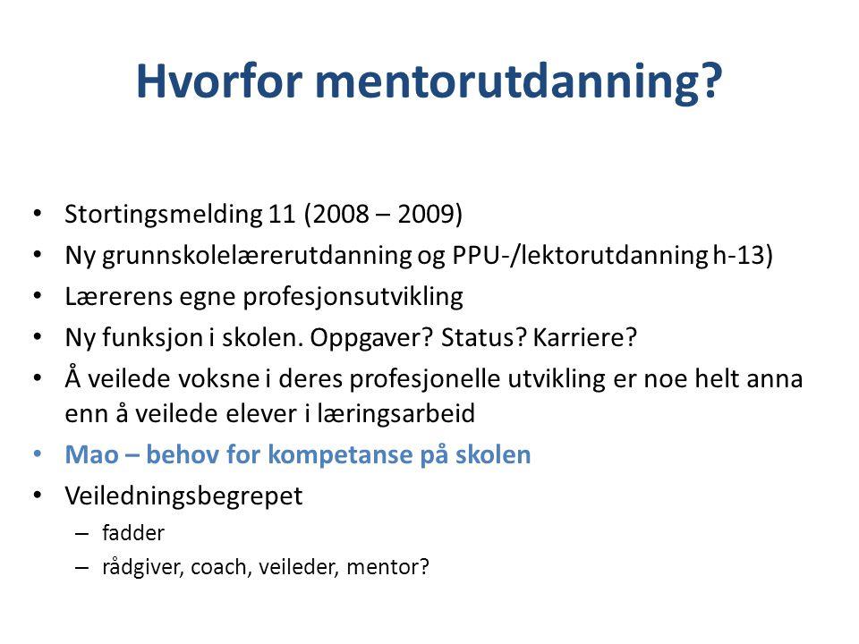 Hvorfor mentorutdanning