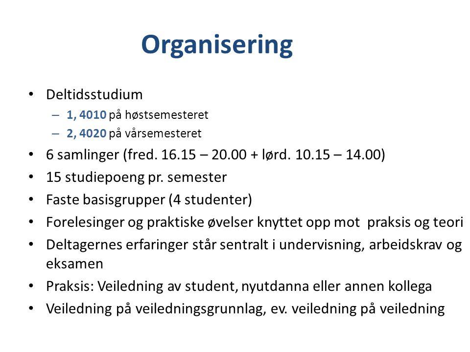 Organisering Deltidsstudium
