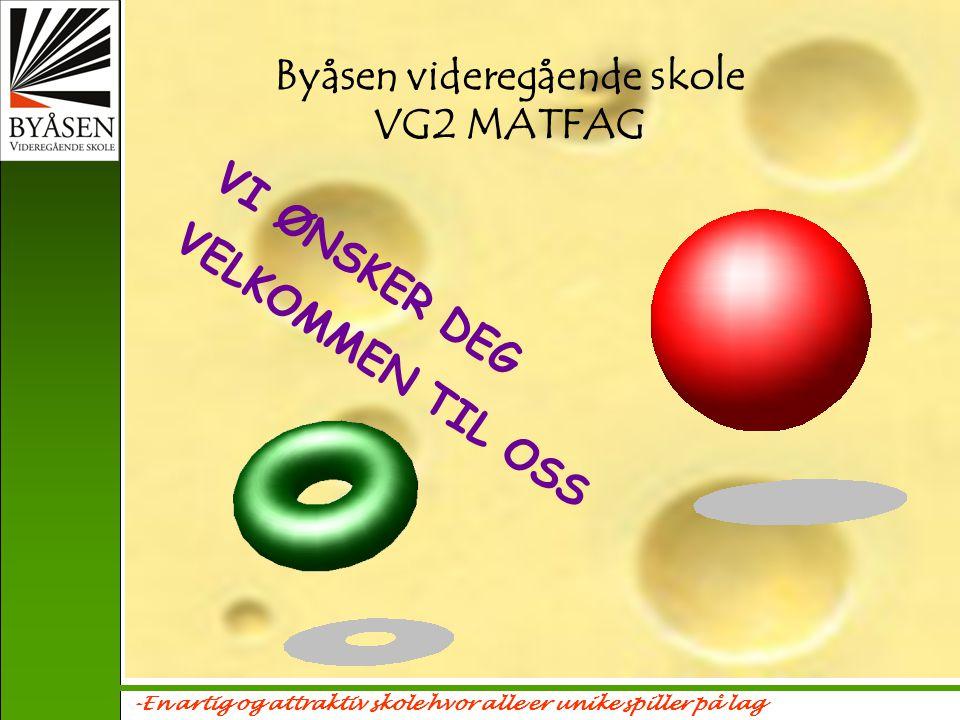 Byåsen videregående skole VG2 MATFAG