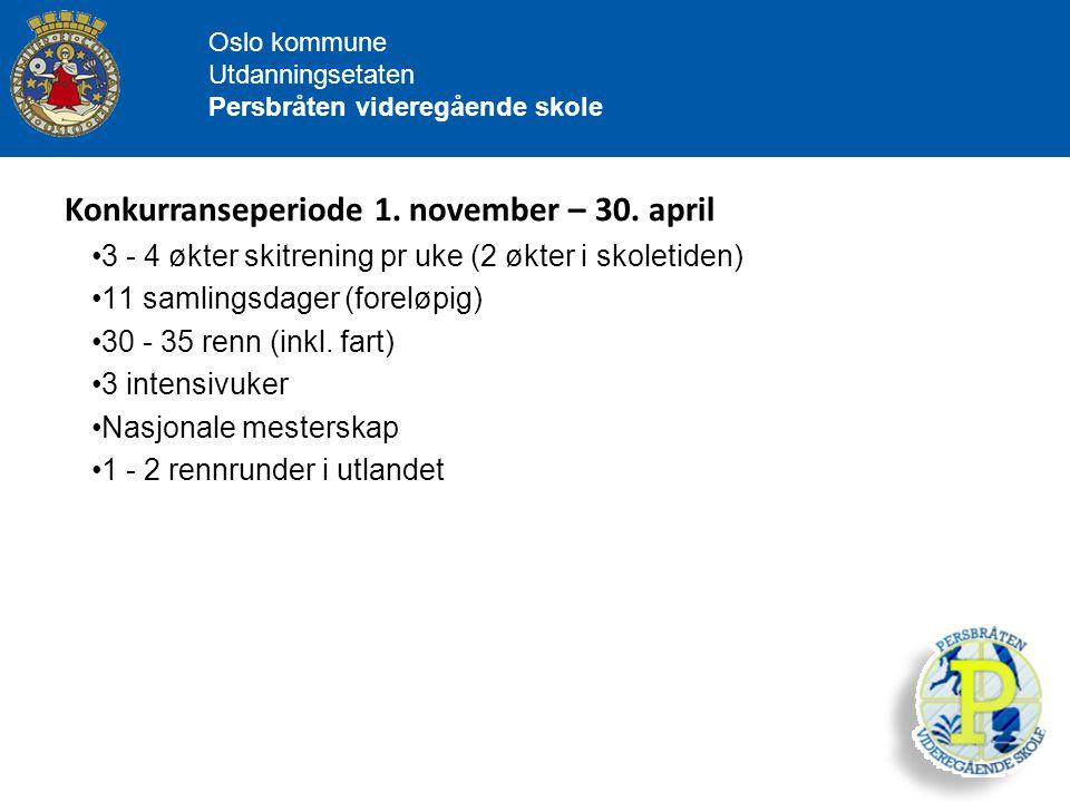 Konkurranseperiode 1. november – 30. april