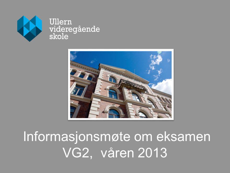 Informasjonsmøte om eksamen