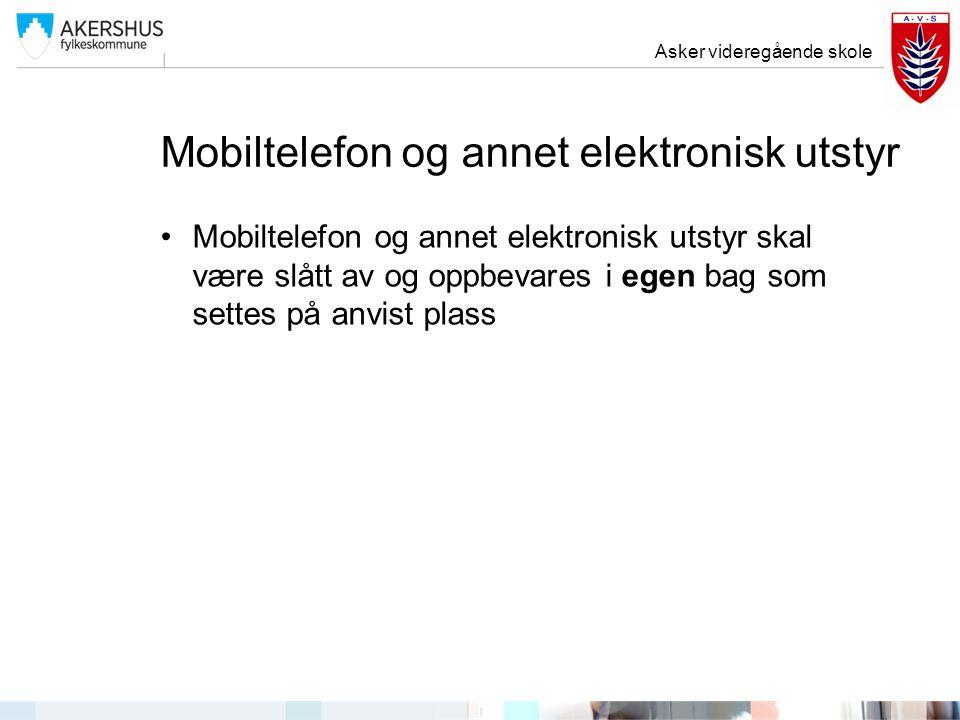 Mobiltelefon og annet elektronisk utstyr