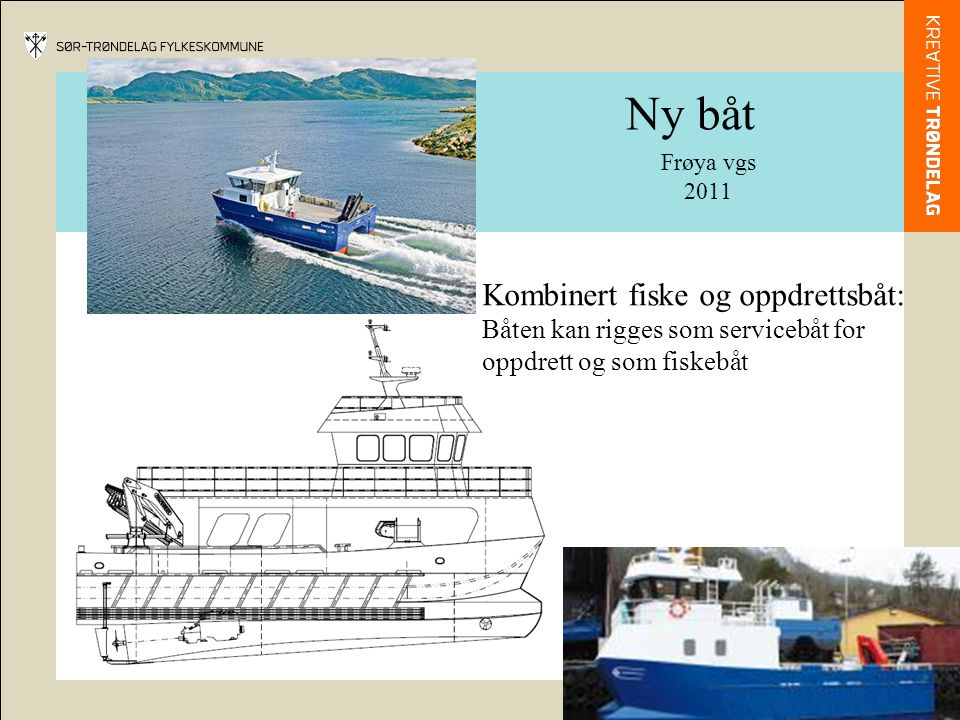 Ny båt Kombinert fiske og oppdrettsbåt:
