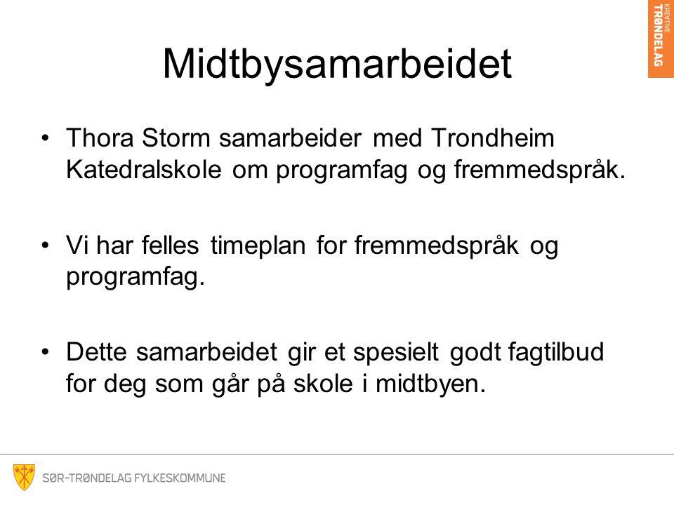 Midtbysamarbeidet Thora Storm samarbeider med Trondheim Katedralskole om programfag og fremmedspråk.