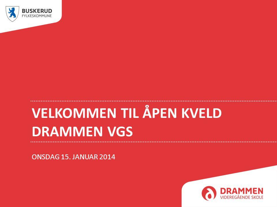 Velkommen til Åpen kveld Drammen vgs