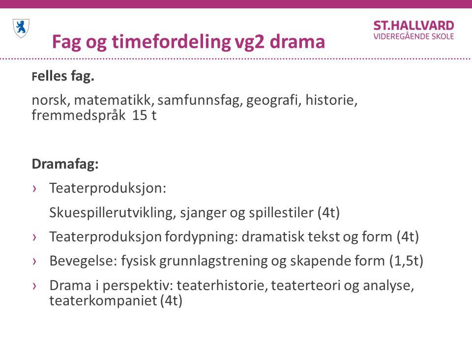 Fag og timefordeling vg2 drama