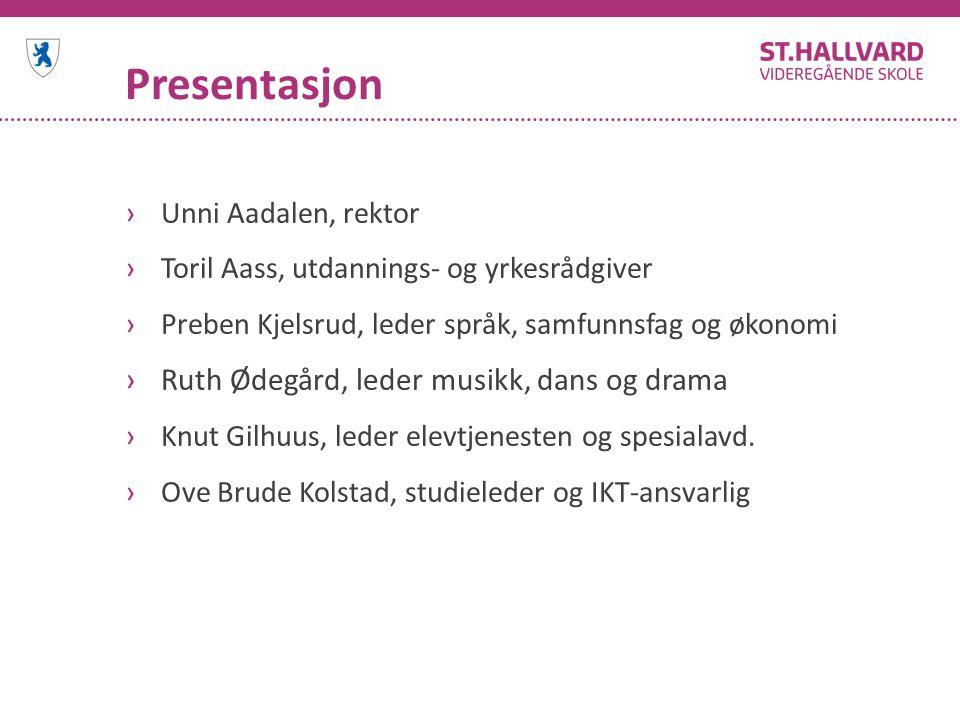 Presentasjon Ruth Ødegård, leder musikk, dans og drama