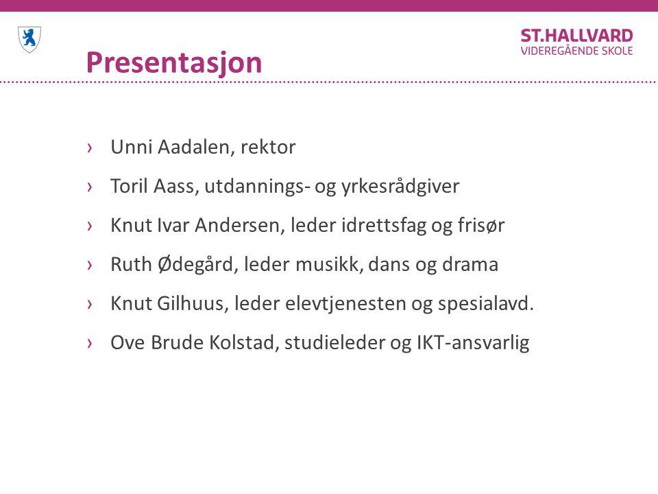 Presentasjon Unni Aadalen, rektor