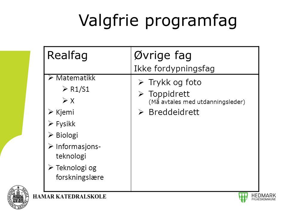 Valgfrie programfag form