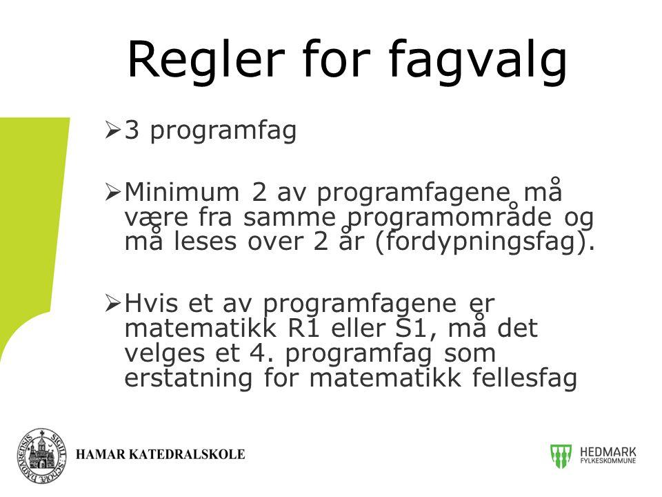 Regler for fagvalg 3 programfag