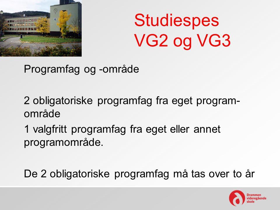 Studiespes VG2 og VG3