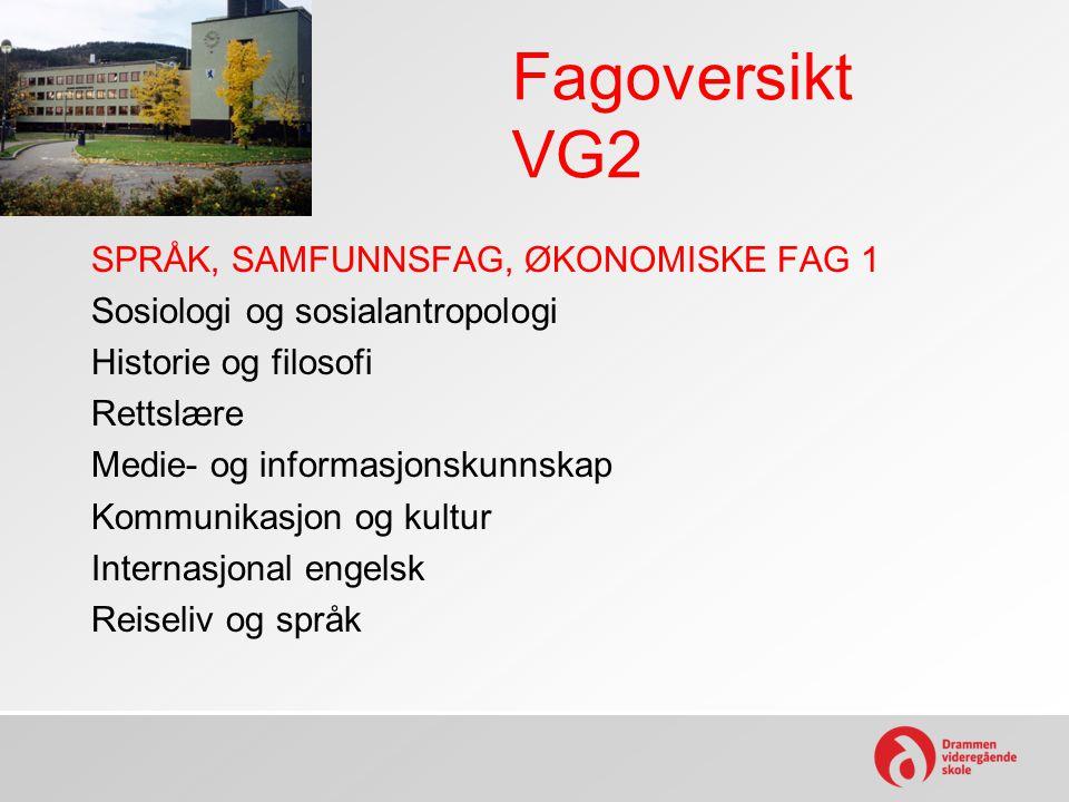 Fagoversikt VG2