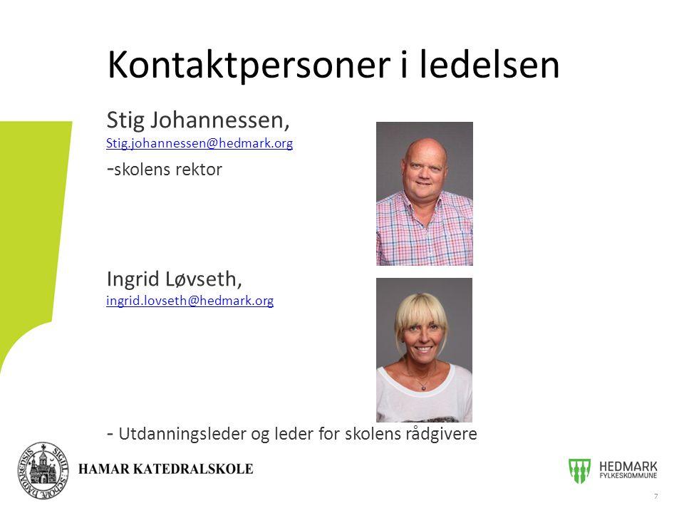 Kontaktpersoner i ledelsen