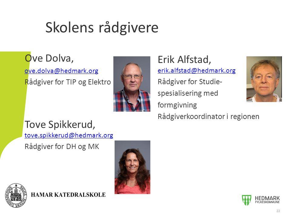 Skolens rådgivere Ove Dolva, Erik Alfstad, erik.alfstad@hedmark.org