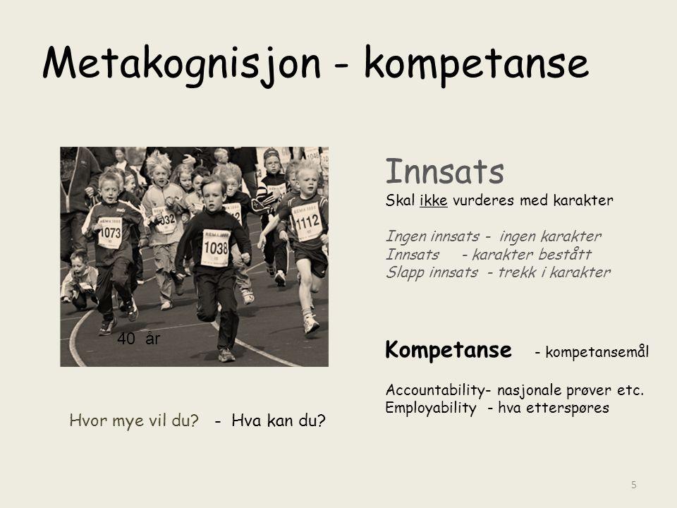 Metakognisjon - kompetanse