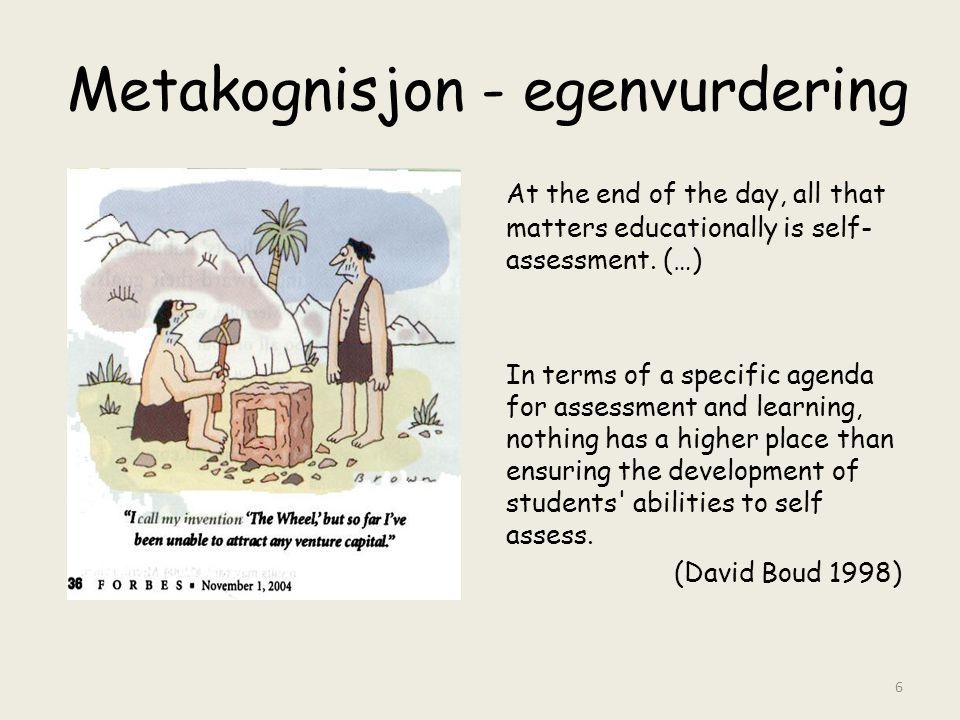 Metakognisjon - egenvurdering