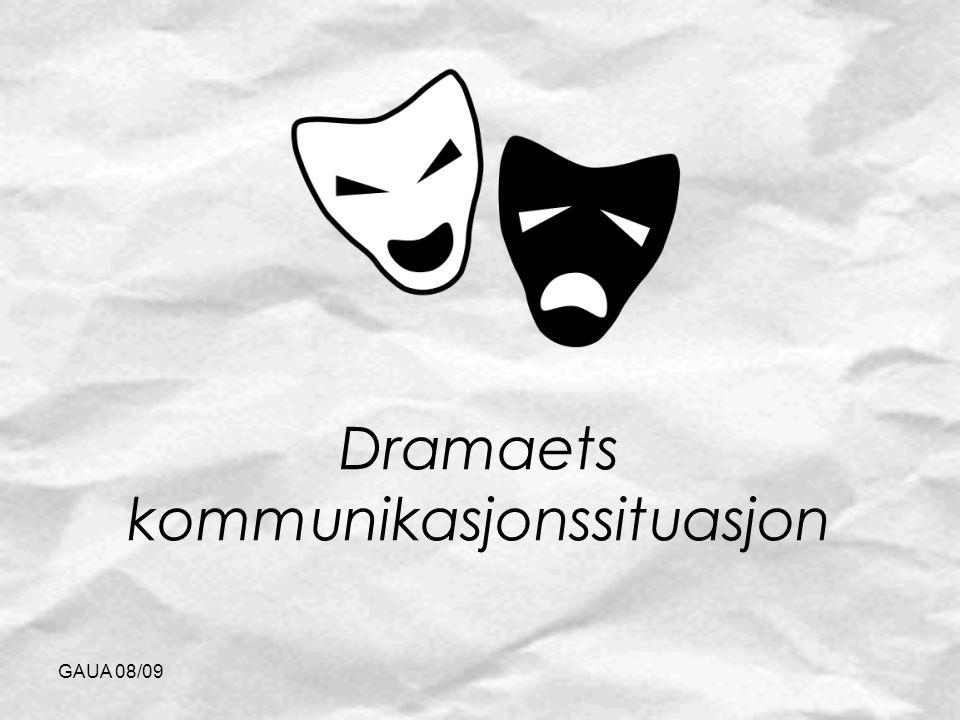 Dramaets kommunikasjonssituasjon