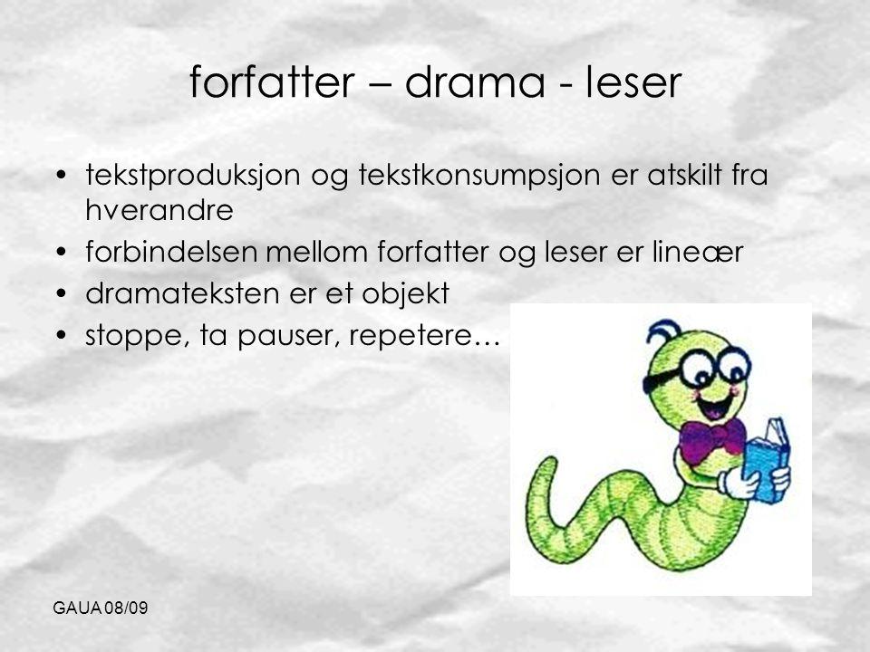 forfatter – drama - leser
