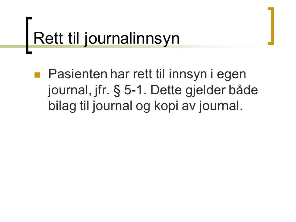 Rett til journalinnsyn
