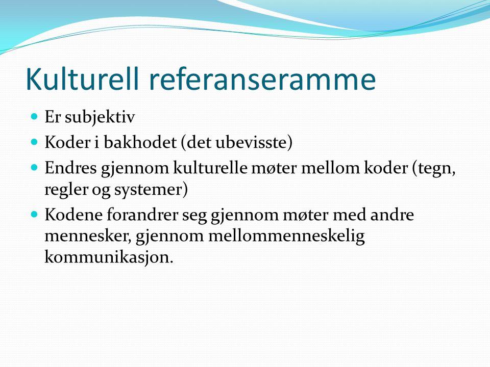 Kulturell referanseramme