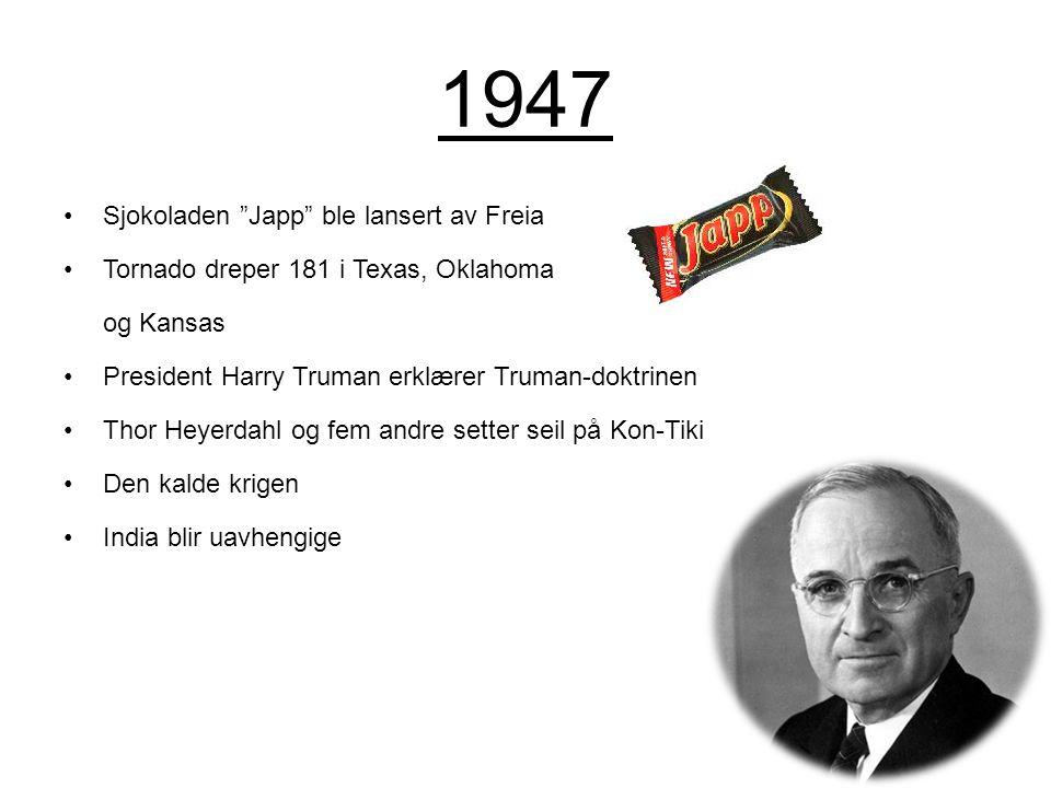 1947 Sjokoladen Japp ble lansert av Freia