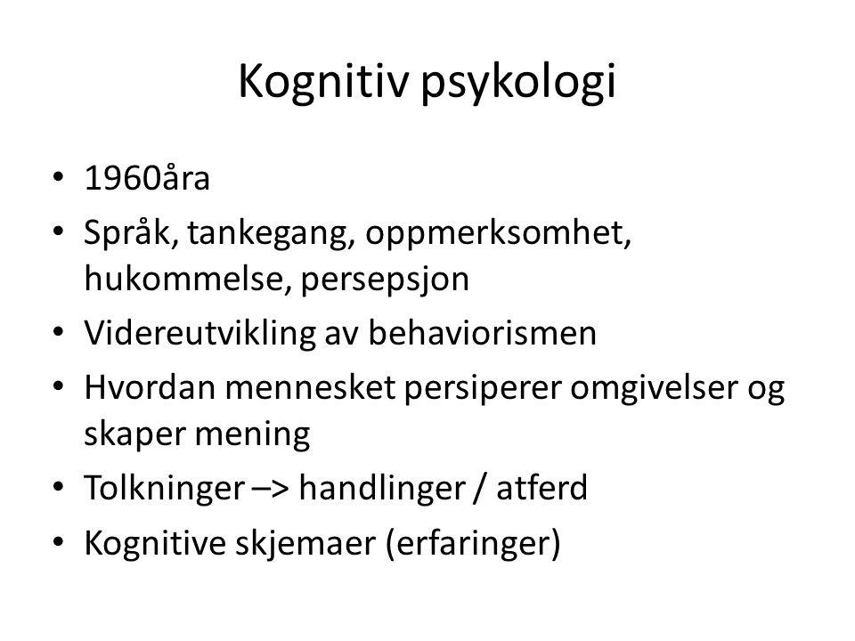 Kognitiv psykologi 1960åra