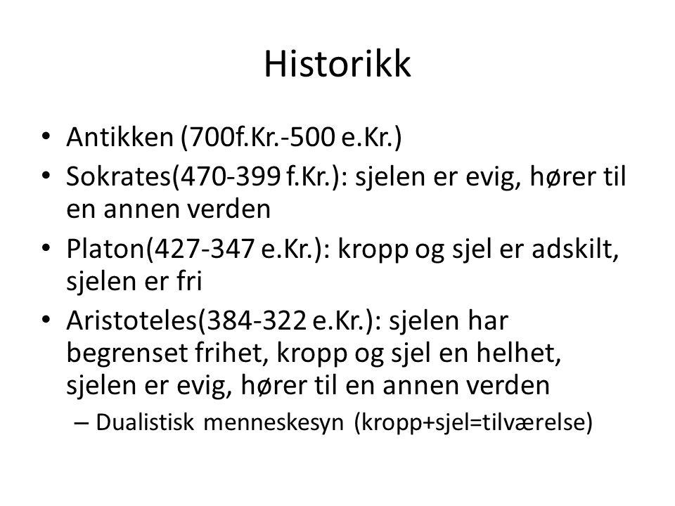 Historikk Antikken (700f.Kr.-500 e.Kr.)