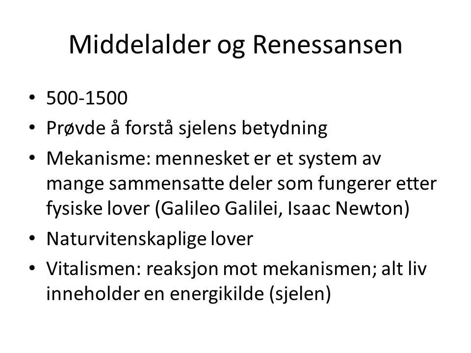 Middelalder og Renessansen