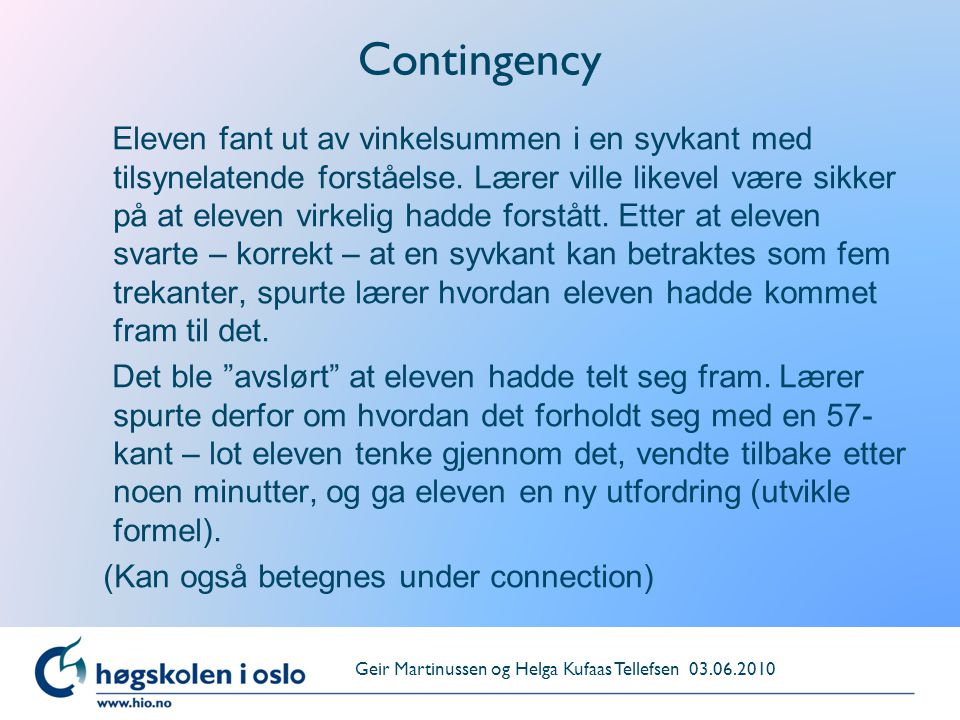 Contingency
