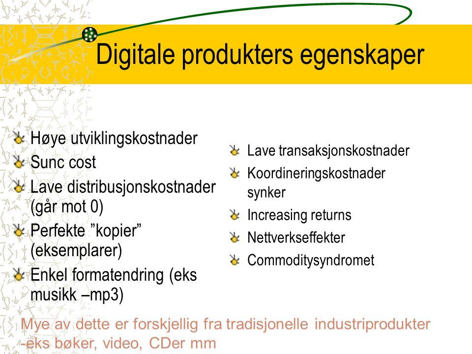 Digitale produkters egenskaper