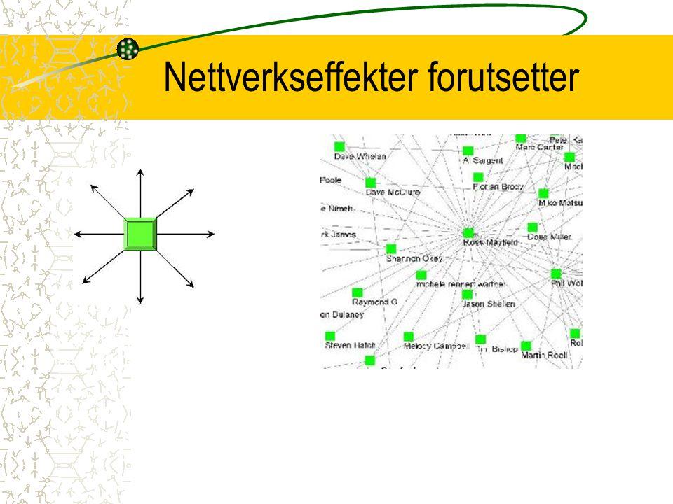 Nettverkseffekter forutsetter