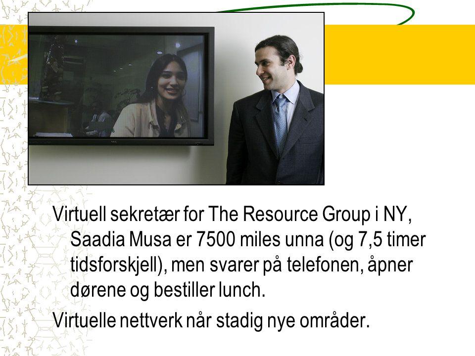 Virtuelle nettverk når stadig nye områder.