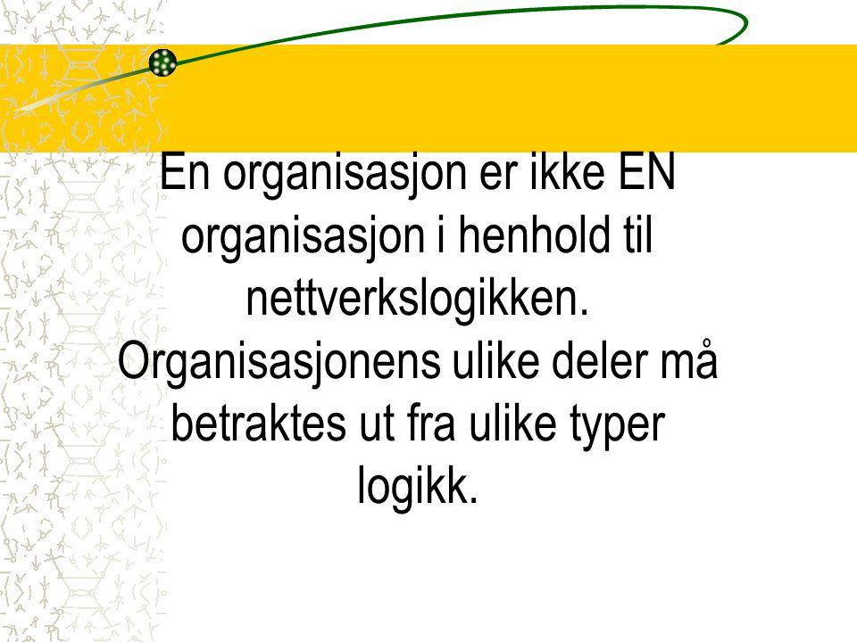 En organisasjon er ikke EN organisasjon i henhold til nettverkslogikken.