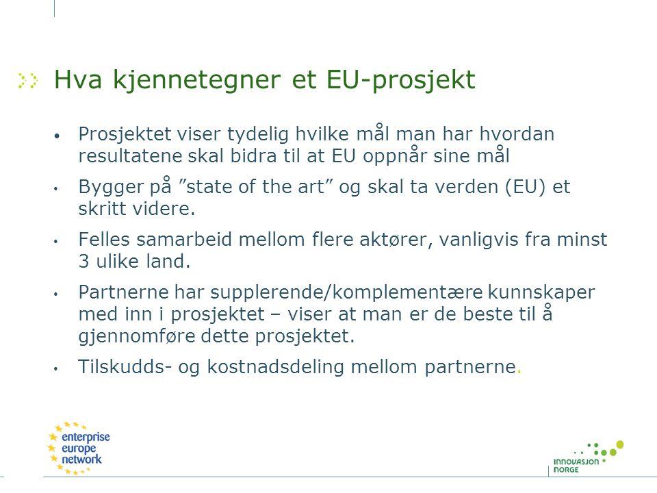 Hva kjennetegner et EU-prosjekt