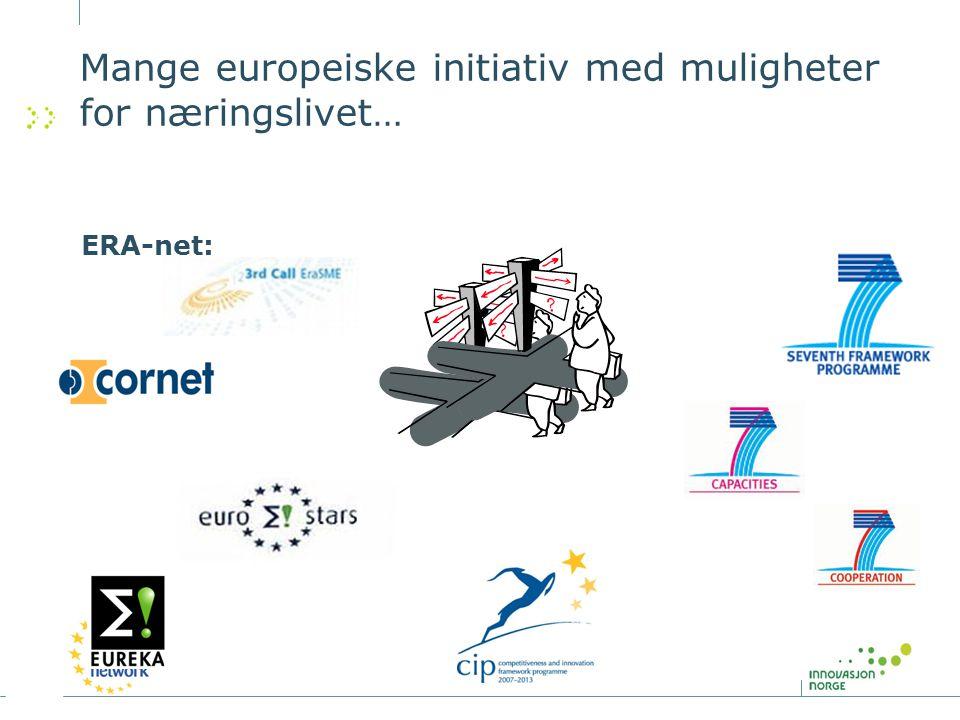 Mange europeiske initiativ med muligheter for næringslivet…