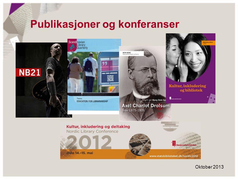 Publikasjoner og konferanser
