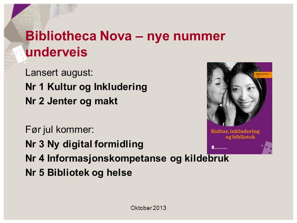 Bibliotheca Nova – nye nummer underveis